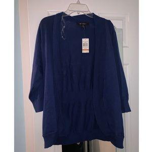 3X 89th & Madison Royal Blue Cardigan Sweater